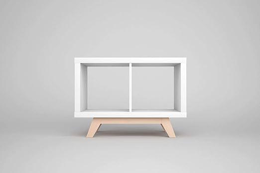 IKEA Kallax - Estante para estantería (madera de haya, 2 estantes, patas inclinadas, para aparador bajo): Amazon.es: Juguetes y juegos