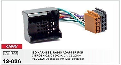 CARAV 12-026 Autoradio ISO Cavo adattatore per CITROEN PEUGEOT