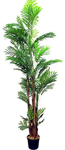 Admired By Nature 7' Artificial Areca Palm Tree Plant in ...