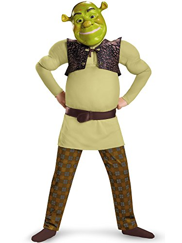 Shrek Classic Muscle Costume, Small (4-6) ()