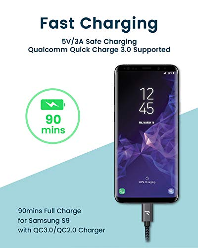 Rampow Cable Usb Tipo C Cable Usb C A Usb 30 Carga Rapida Y Sincronizacion Cable Tipo C Compatible Con Samsung Galaxy Xiaomi Mi A1mi A2 Lg Htc Sony Xperia Xz Y Mas 1m Gris Espacial