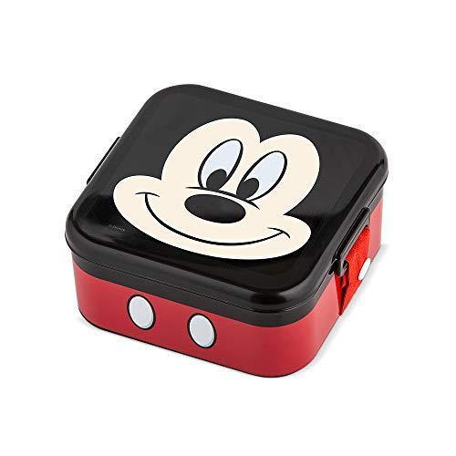 Pote Com Trava Disney Mickey - Menino, Lillo, Vermelho/Preto