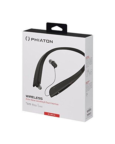 Phiaton BT 150 NC Black Wireless Active Noise Cancelling & Touch Control Neckband Style Earphones with Mic by Phiaton (Image #5)