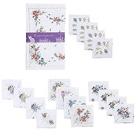 8 or 16 Pack Ladies Foxbury Handkerchiefs Hankies Floral Print Poly Cotton HK014