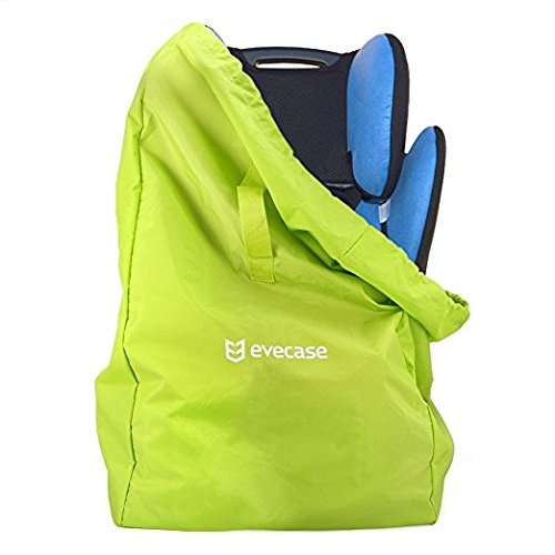 Baby Car Seat Bag, Evecase Baby Child Car Seat Storage Travel Bag Backpack Carrying Case Cover with Shoulder Straps for Safety Car Seat, Booster and Infant Carrier - Green 885157970402