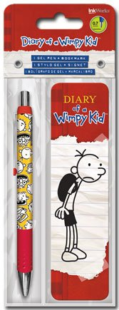 Diary of a Wimpy Kid - Jeff Kinney by Gel Pen and Bookmark Set