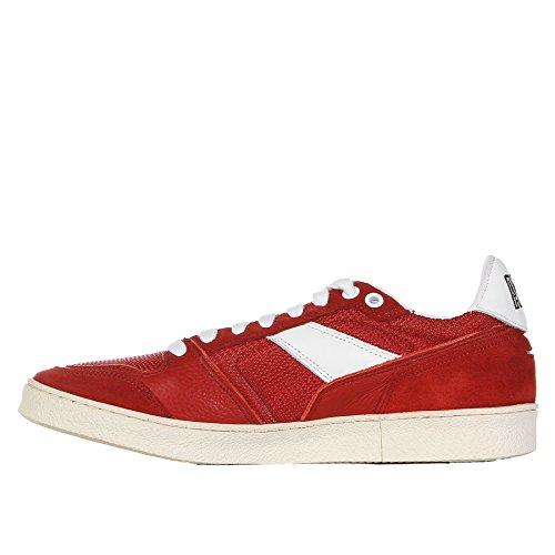 AMI Suola Pelle in 40 con MATTIUSSI Contrasto A ALEXANDRE Sneaker Rossa rwq04grxa