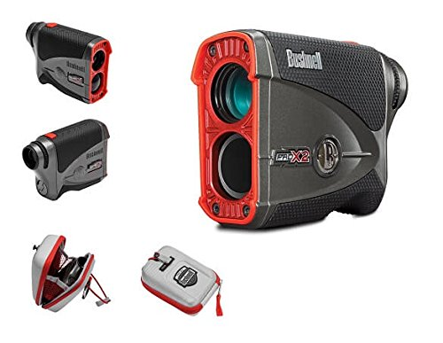 Bushnell Pro X2 Golf Laser Rangefinder GIFT BUNDLE | Includes Golf Rangefinder (Slope & Non-Slope Function) with Carrying Case(Clip included), Custom Ball Marker Hat Clip Set and Two (2) CR2 Batteries by Bushnell (Image #5)