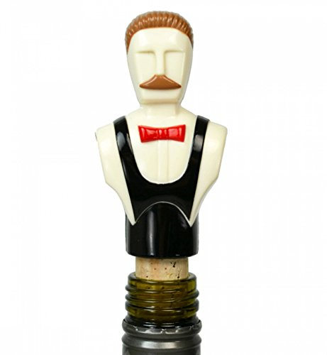 Fancy Plastic Figure Art Deco CORKSCREW Cutlery Black Vintage English 1950s - Plaza Valley Stores
