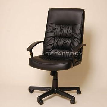 CHEFSESSEL LEDER-Tex Bürostuhl Drehstuhl Büro Stuhl C43 schwarz