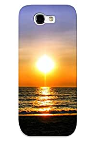 New Style Tpu Note 2 Protective Case Cover/ Galaxy Note 2 Case - Hot Sunset Beach