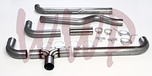 "4"" Turbo Back Dual Smoker Exhaust System Kit For 1994-2002 Dodge Ram 2500 3500 Cummins 5.9L Turbo Diesel Pickup Truck"