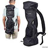 Waterproof Backpack to Carry/Store Your Drifting Board (Two Wheels Smart Balance Board Scooter Electric Drifting Board) - Mesh Pocket - Adjustable Shoulder Straps - Carry Handle - Dual Zipper