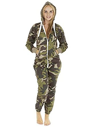 Love My Fashions® Womens Unisex Outfit Aztec Print Camo camouflage Hooded  Zipped All in One Activewear Onesie Jumpsuit For Adult Men Ladies Teens  Lougewear ... ffe749f77
