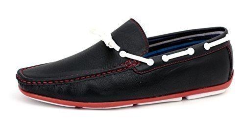 Hombre Mocasines Sin Cordones Conducción Zapatos Casual mocasin - Negro, 44: Amazon.es: Zapatos y complementos