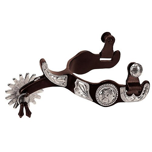 Spurs Bob Jingle - Weaver AT German Silver Concho Jingle Bob 16p Spur