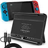 Battery Charger Case for Nintendo Switch, Portable Switch Battery Case with 10, 000 Mah Extended Travel Power Bank, Kickstand and USB-C Charging Cable