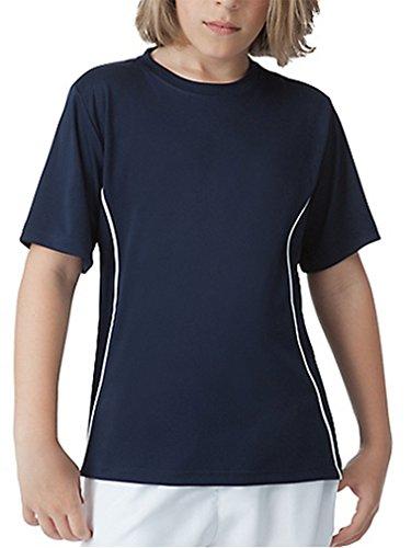 Fila Boy's Fundamental Crew Shirt S, Peacoat/White
