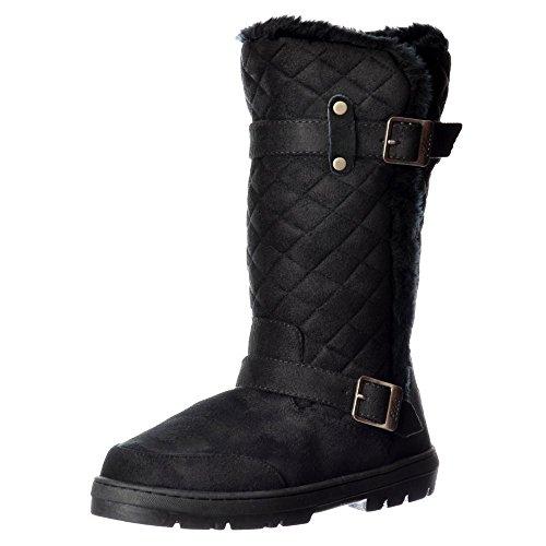 Wide Biker Boots - 5