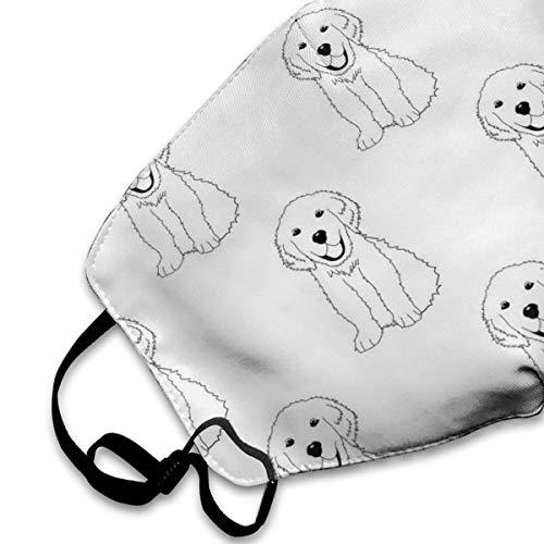 NOT Mask Labrador Golden Retriever Dog Mask Face Masks for Allergies Woodworking Running Sanding Mowing Half Mask for Women Men