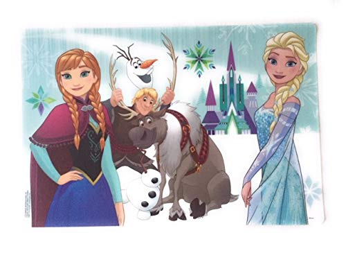 Zak Frozen Designs Placemat with Elsa Set of 2 Anna and Olaf