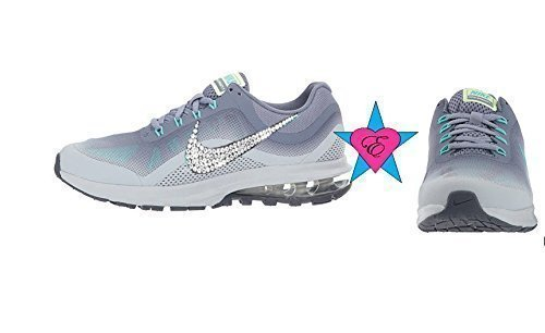 Crystal Bling Nike Air Max Dynasty 2 Women's Shoes Dark Sky Blue by Eshays