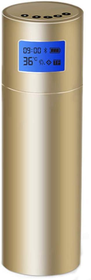 ZUKN 350 Taza de Smart Ml, Frasco vacío de Acero Inoxidable con Pantalla de Temperatura y TF/FM/Medicamentos función de recordatorio, Ancianos