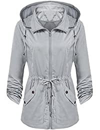 47428949f3d Women s Detachable Hooded Drawstring Anorak Military Utility Jacket