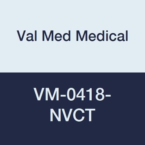 Val Med Medical VM-0418-NVCT Comfort Plus Oval Donut, Navy Cotton Cover, 2'' Width, 18'' Length, Density 1.2 (Pack of 12)