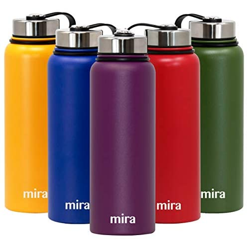 MIRA Insulated Double Wall Vacuum Stainless Steel Water Bottle 32oz HawaiianBlue