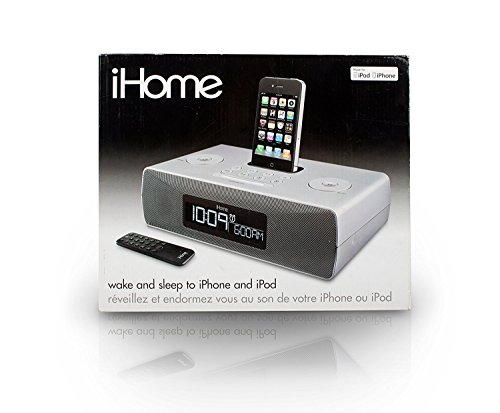 iHome ip87 AM/FM Radio iPhone/iPod Docking Digital Dual Alarm Clock