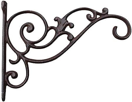 Cakunmik Soporte de Canasta Colgante Decoración de jardín Antigua Gancho de Flores Rústico Fundido de Hierro Fundido de Hierro para Colgar cestas, Chimes de Viento, linternas