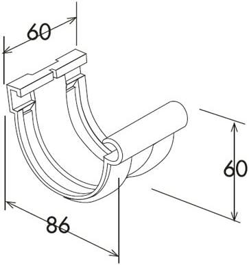 Goutti/ère PVC 16 demi-ronde sable Jonction longue /à joint mont/és PVC 16 demi-ronde