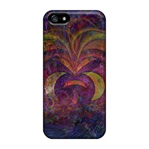 Awesome Fractals101 Flip Cases With Fashion Design For Iphone 5/5s