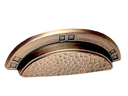 Cup Copper Antique - Sonoma Cabinet Hardware Pasadena Cup Bin Pull Handle Antique Copper 3