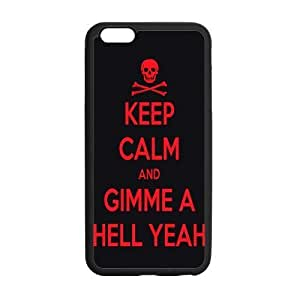 iphone 5C Case, Keep Calm And Give Me A Hell Yeah Cool Red & Black TPU Frame & PC Hard Back Protective Cover Bumper Case for iphone 5C Inch On 2014