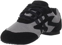 Sansha Women's Salsette 1 Dance Shoe,Grey/Black,19 Sansha (17 M US Women's/14 M US Men's)