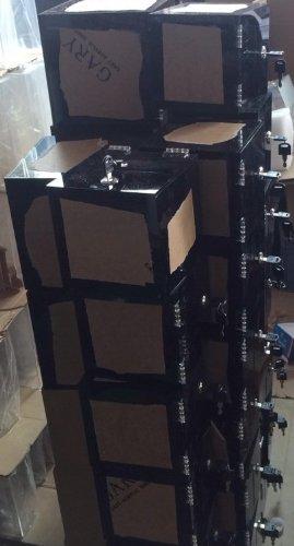 SourceOne Premium Black Acrylic Ballot Box Donation Box Cube (6 Inch)
