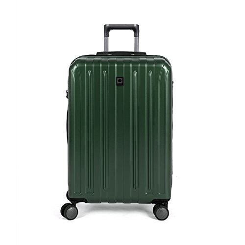 Delsey Luggage Helium Titanium 25'' Exp. Spinner Trolley, Hunter Green by DELSEY Paris