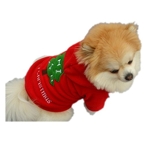 Dog Clothes,Beautyvan Cute Christmas Pet Puppy Dog Clothes Santa Costume Thick Coat Apparel (XS, Red) - Sweetie Leopard Costumes