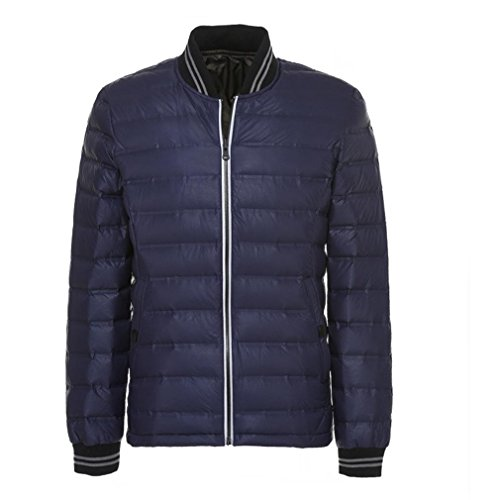 YANXH The New Light and thin Down jacket Men Both Sides Wear Stand Collar Coat , blue , l by YANXH outdoors