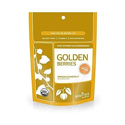 Organic Golden Berries by Navitas Naturals, 8 oz