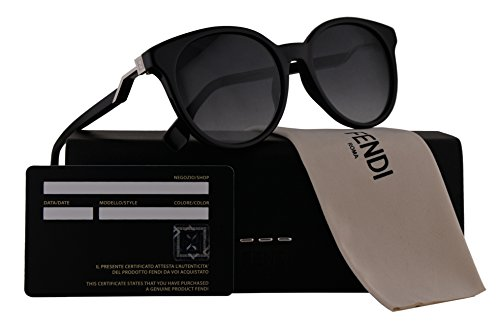 Fendi FF0231/S Sunglasses Black w/Dark Grey 52mm Lens 8079O FF0231S FF 0231S FF - Prescription Sunglasses Fendi