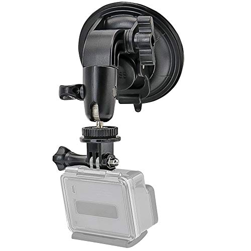 Heavy Duty Camera Car Windshield Mount with 1/4-20 Adapter for