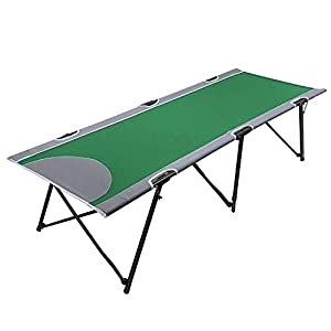 PORTAL Folding Portable Camping Cot Stable Collapsible Adult Travel Cot Bed with Carry Bag, Support 300lbs, Green, 38.5…