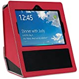 Amazon Echo Show case - DHZ Premium PU Leather Carrying Case with portable handle Sleeve Skins Anti-Skid Protective Cover Accessory for echo show,Red
