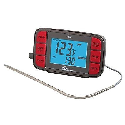 Oh Mi Grill termómetro digital con sonda y temporizador por Taylor productos de precisión