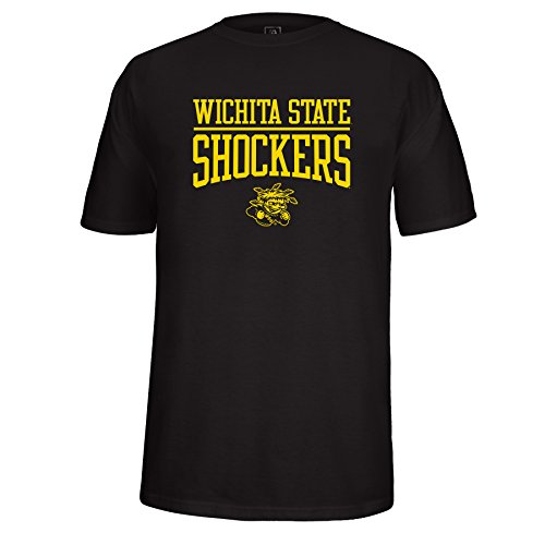 NCAA Wichita State Shockers Adult School Name Over Logo Choice Tee, X-Large, Black