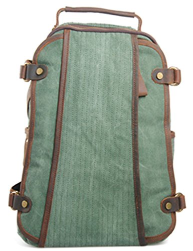 Leaper Specially Vintage Canvas Backpack Rucksack Schoolbag travel Bag with Unique design Lake Green
