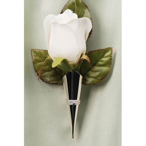 Bulk Buy: Darice DIY Crafts Victoria Lynn Lapel Pin Vase with Braid Trim Silver (6-Pack) VL1162-11 (Vase Pin Lapel)